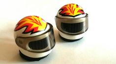 LEGO HELMET VALVE CAPS  Quirky handcrafted valve caps made from genuine Lego parts  Standard Tyre valve cap size, fits BMX, Mountain bikes,