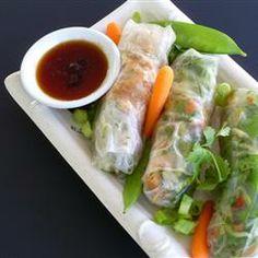 Thai Chicken Spring Rolls Allrecipes.com -just make sure to use gluten free Tamari (soy sauce)