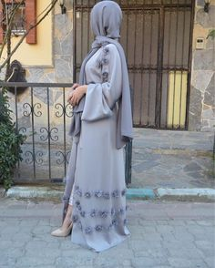 New grey abaya  #EsteeAudra #Abaya EsteeAudra özel koleksiyon yeni gri abaya #specialcollection