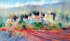 La Codeine, Tim Fisher.  Combine Inks and Soft Pastel for Colourful Landscapes.