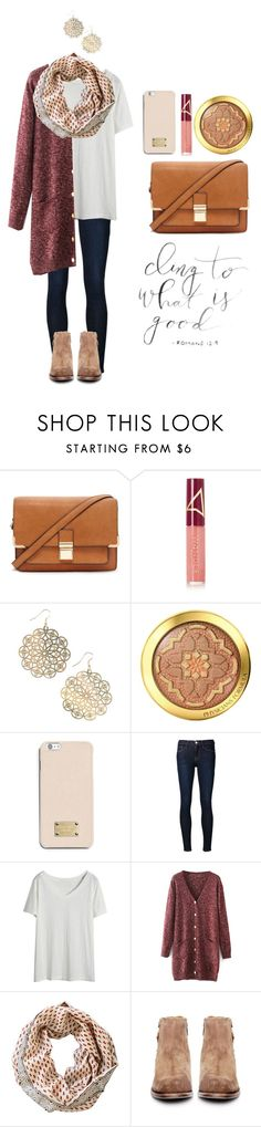 """Can you, see me, over here, should I just disappear?"" by smileyavenuegirl ❤ liked on Polyvore featuring Forever 21, Wander Beauty, NLY Accessories, Physicians Formula, MICHAEL Michael Kors, Frame Denim, Maelu and H by Hudson"