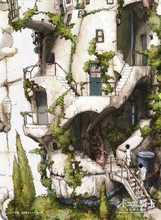 Sidonia no Kishi - Nihei Tsutomu - Mobile Wallpaper - Zerochan Anime Image Board Environment Concept Art, Environment Design, Knights Of Sidonia, Anime City, Science Fiction Art, Landscape Illustration, Environmental Art, Fantasy Landscape, Fantastic Art