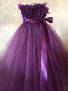 Sugar Plum Flower girl dress by TutuSweetBoutiqueINC on Etsy, $50.00