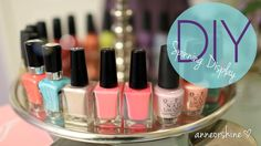 DIY Rotating Nail Polish & Jewelry Display EASY Cute How To Make these...I pinning these because ...I just love DIY Ideas that make everything look beautiful!  Enjoy! ~Kimberly Robyn