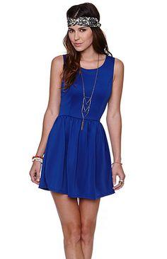 LA Hearts Solid Scuba Fit N Flare Dress at PacSun.com