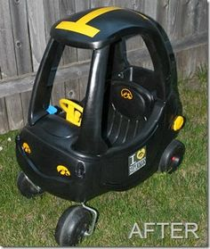 Iowa Hawkeye Cozy Coupe Makeover