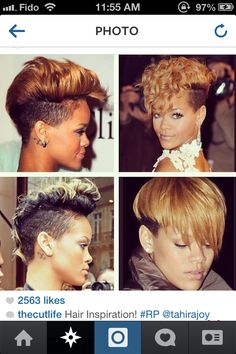 Think I just died and went to shaved sides / undercut heaven. Yasss Rih!