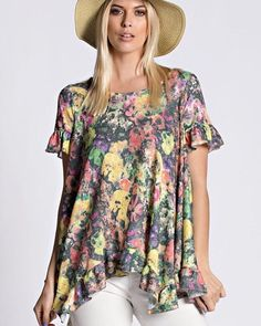 Floral done right!Floral Flutter Top $28 Grab it in time for all your Easter festivities by ardenstore