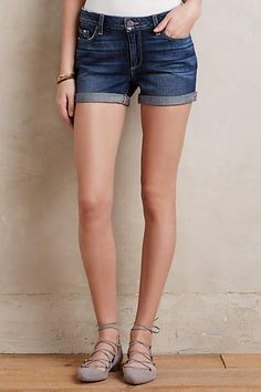 Paige Jimmy Jimmy Denim Roll-Up Shorts - #anthroregistry
