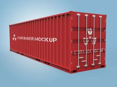 Shipping Container Mockup by Intaglio Graphics & Multimedia