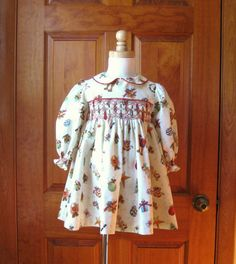 Lavender shabby roses hand smocked dress by ForTheLoveOfSmocking