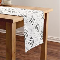 Create Your Own CUSTOM PRODUCT YOUR IMAGE HERE Short Table Runner - create your own gifts personalize cyo custom
