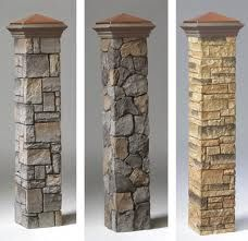 faux stone post covers - Google Search