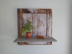 Antique Hanging Door Shelf.