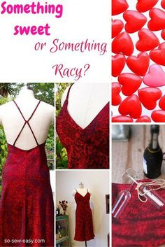 This Valentine's Day, we have something special for you --something sweet or something racy with a free sexy dress pattern and tutorial.