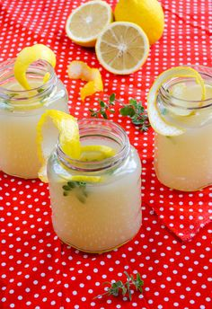 Fresh Homemade #Lemonade. It takes some effort but I made 4x the batch and it's good. I did not use the marjoram.