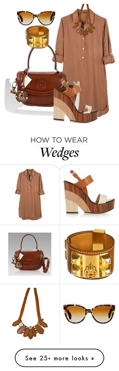"""Untitled #1037"" by srlangley on Polyvore featuring United by Blue, Jimmy Choo, Hermès, Oliver Peoples and Emporio Armani"