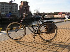 Quite old Polish ladies bike. Made soon after WW2. My wife can't even imagine to cycle on something else.