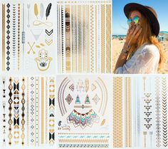 Geometric Patterns, Feathers, and Native Designs. Our Aztec collection includes 5 large sheets of tattoos. MODERN BOHO Jewelry Tattoos Join the Hot New Temporary Tattoo Trend Better than Jewelry Sport
