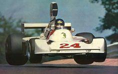 James Hunt, 1975, Nurburgring.                                                                                                                                                                                 More