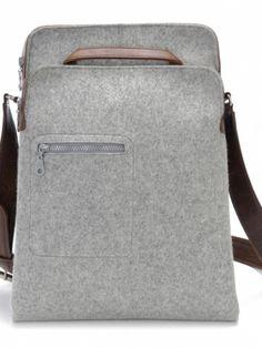 Messenger Bag - Zip-Top grey Postman Bag, Ipad Bag, Messenger Bag Men, Computer Bags, Canvas Leather, Fashion Bags, Men's Fashion, Tote Handbags, Backpack Bags