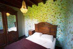 Engels behang in de franse slaapkamer