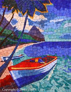 Mosaic Artists: Artwork Detail Display Looks like de islands, mon Mosaic Artwork, Mosaic Wall Art, Tile Art, Mosaic Tiles, Mosaic Crafts, Mosaic Projects, Art Projects, Mosaic Designs, Mosaic Patterns