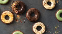 Perfect Portion Chocolate Cake Donuts | Epicure.com Chocolate Cake Donuts, Chocolate Fudge Sauce, Chocolate Glaze, Epicure Recipes, Donut Recipes, Whole Food Recipes, Free Recipes, No Cook Desserts, Gluten Free Desserts