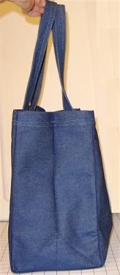 Sew Your Own Reusable Grocery Bag with This Free Pattern: Materials 1 yard needed - perfect for Frank's shopping!