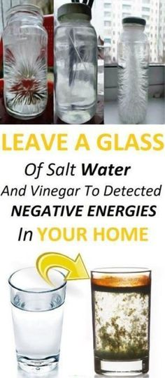 Leave A Glass Of Water With Salt And Vinegar At Your Home And See The Changes In 24 Hours! #remedies #natural #healthy #selfcare