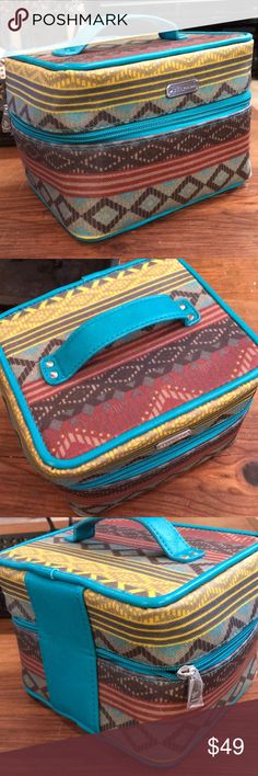 Silpada Jewelry Tuscan Travel Case Turquoise Used once Silpada Jewelry Bracelets