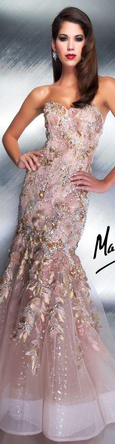 Mac Duggal couture dress ♥ Golden Velvet Love ♥