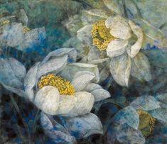 Lotus Kunst, Lotus Art, Watercolor Flowers, Watercolor Art, Lotus Flower Pictures, Canvas Painting Designs, Brindille, Master Of Fine Arts, Guache