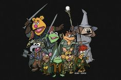 Fellowship of the Puppets- tshirt at neato