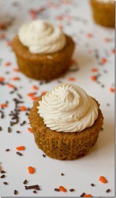 Caramelized White Chocolate Truffle Pumpkin Cupcakes