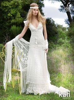 Hippie Bohemian Wedding Dress Los Angeles love the dress style