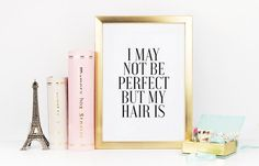 PRINTABLE Art PERFECT HAIR Hair Salon Decor Girls Room by TypoHome