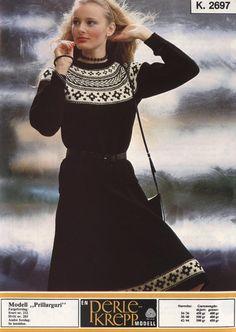Prillarguri k 2697 Norwegian Knitting, Sweater Weather, Jumpers, Knit Dress, Knitwear, Knitting Patterns, Knit Crochet, Vintage Fashion, Turtle Neck