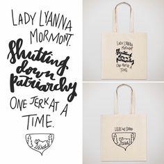 #lettering #handlettering #gameofthrones #got #ladymormont #totebag