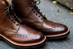 The Best Men's Shoes And Footwear : Oxford boots by Grenson Fred -Read More – Me Too Shoes, Men's Shoes, Shoe Boots, Shoes Sneakers, Dress Shoes, Fancy Shoes, Dress Pants, Men Dress, Oxford Boots