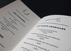 LA HACHE - IDENTITY by Drach P. Claude, via Behance, restaurant menu card
