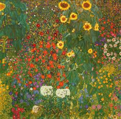 Farm Garden with Flowers (Brewery Garden at Litzlberg on the Attersee) c.1906 creator     Klimt, Gustav (1862-1918) Nationality     Aust...