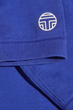 Tory Sport - Seamless Cropped Stretch-jersey Leggings - Blue - small