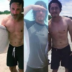 Andrew Lincoln, Norman Reedus & Steven Yuen in Costa Rica!