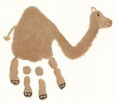 camel art and craft activities | handprint camel