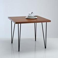 Table de repas carrée, esprit vintage, Watford