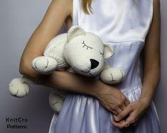 Crochet Polar Bear Pillow Pattern PDF Crochet Interior Baby | Etsy Crochet Rabbit, Crochet Bunny, Crochet For Kids, Decor Pillows, Baby Pillows, Crochet Pillow, Crochet Hooks, Bear Toy, Polar Bear