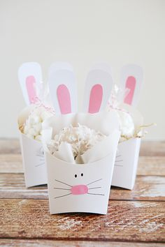 Fry Box Bunny - Easter Treat Containers