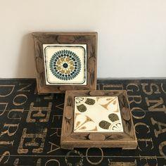 Vintage Vitro Ceramica Tile Trivets w/ Carved Wood Frames Made in Spain, Farmhouse chic, boho decor, vintage kitchen by TheDustyWingVintage on Etsy Wood Ceramic Tiles, Boho Decor, Farmhouse Chic, Vintage Kitchen, Carved Wood Frame, Vintage, Trivets, Ceramica Tile, Ceramica
