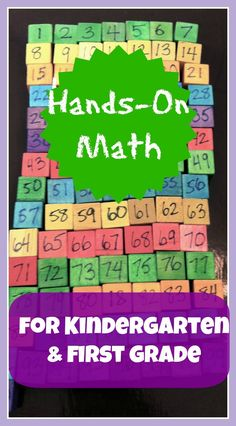 Hands-on learning for math concepts for Kindergarten and 1st grade. Includes links to many different hands-on math activities.